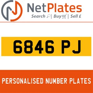 6846 PJ PERSONALISED PRIVATE CHERISHED DVLA NUMBER PLATE For Sale