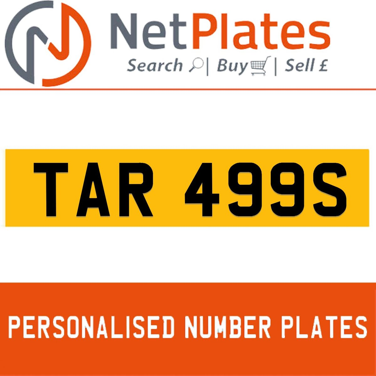 TAR 499S PERSONALISED PRIVATE CHERISHED DVLA NUMBER PLATE For Sale (picture 1 of 5)