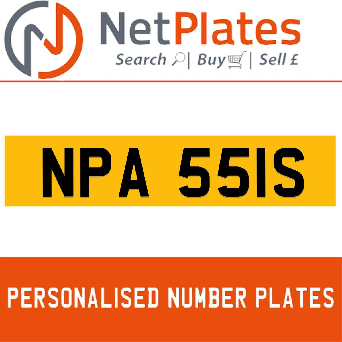 NPA 551S PERSONALISED PRIVATE CHERISHED DVLA NUMBER PLATE For Sale (picture 1 of 5)