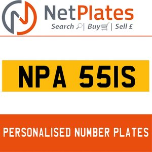 NPA 551S PERSONALISED PRIVATE CHERISHED DVLA NUMBER PLATE For Sale