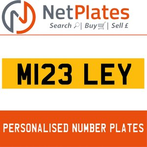 M123 LEY PERSONALISED PRIVATE CHERISHED DVLA NUMBER PLATE For Sale