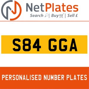 S84 GGA PERSONALISED PRIVATE CHERISHED DVLA NUMBER PLATE For Sale