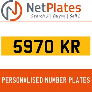 5970 KR PERSONALISED PRIVATE CHERISHED DVLA NUMBER PLATE For Sale