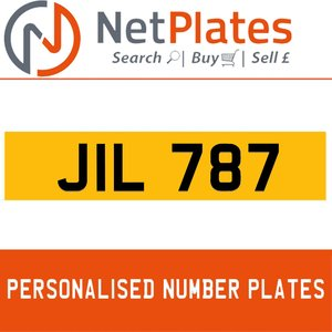 JIL 787 PERSONALISED PRIVATE CHERISHED DVLA NUMBER PLATE For Sale