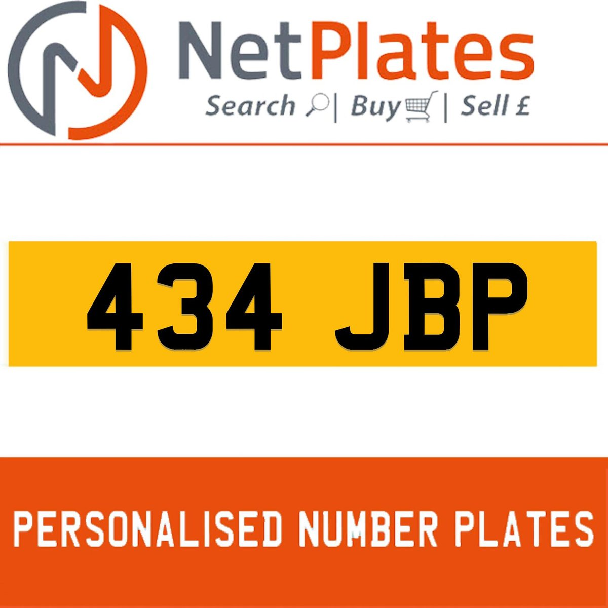 434 JBP PERSONALISED PRIVATE CHERISHED DVLA NUMBER PLATE For Sale (picture 1 of 5)