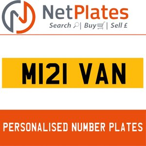 M121 VAN PERSONALISED PRIVATE CHERISHED DVLA NUMBER PLATE For Sale