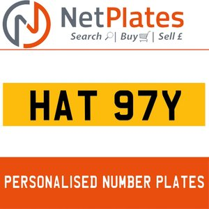 HAT 97Y PERSONALISED PRIVATE CHERISHED DVLA NUMBER PLATE For Sale