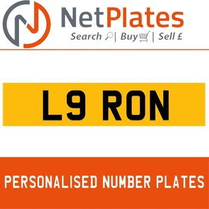 L9 RON PERSONALISED PRIVATE CHERISHED DVLA NUMBER PLATE