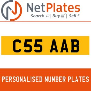 C55 AAB PERSONALISED PRIVATE CHERISHED DVLA NUMBER PLATE For Sale