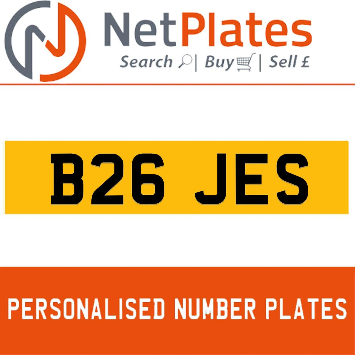 B26 JES PERSONALISED PRIVATE CHERISHED DVLA NUMBER PLATE For Sale (picture 1 of 5)