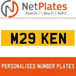 M29 KEN PERSONALISED PRIVATE CHERISHED DVLA NUMBER PLATE For Sale