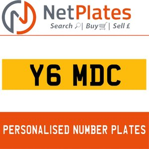 Y6 MDC PERSONALISED PRIVATE CHERISHED DVLA NUMBER PLATE For Sale