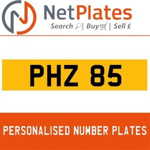 PHH 85 PERSONALISED PRIVATE CHERISHED DVLA NUMBER PLATE For Sale