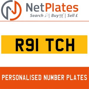 R91 TCH PERSONALISED PRIVATE CHERISHED DVLA NUMBER PLATE For Sale