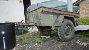 Military Surplus M416 1/4 Ton Jeep Cargo Trailer For Sale by Auction