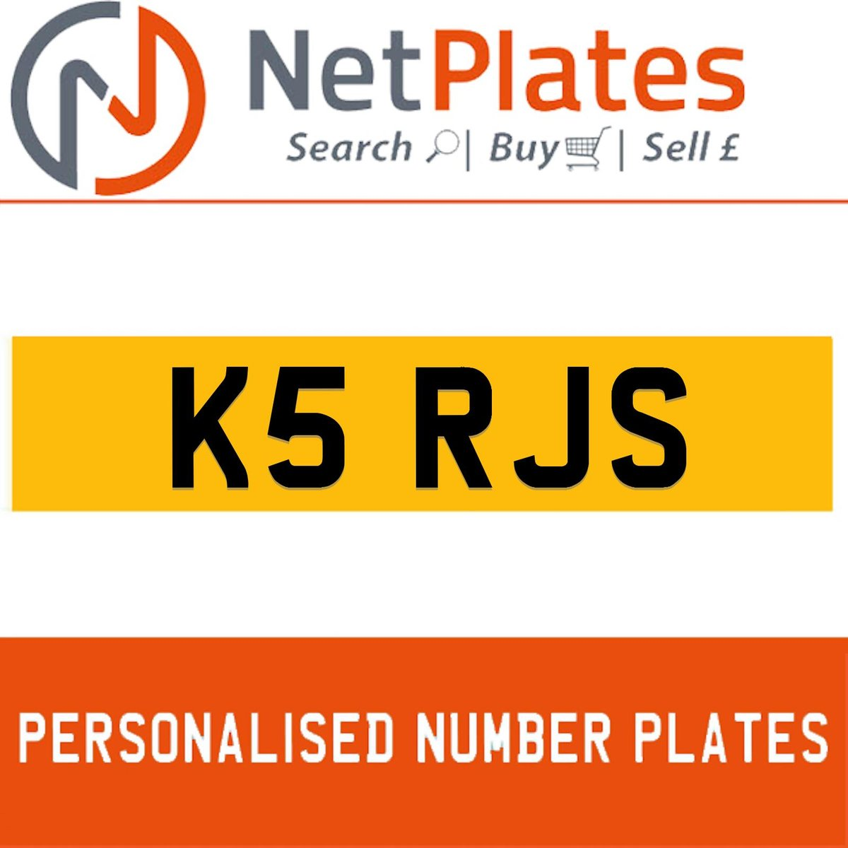 K5 RJS PERSONALISED PRIVATE CHERISHED DVLA NUMBER PLATE For Sale (picture 1 of 5)