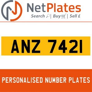 ANZ 7421 PERSONALISED PRIVATE CHERISHED DVLA NUMBER PLATE For Sale