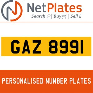 GAZ 8991 PERSONALISED PRIVATE CHERISHED DVLA NUMBER PLATE For Sale