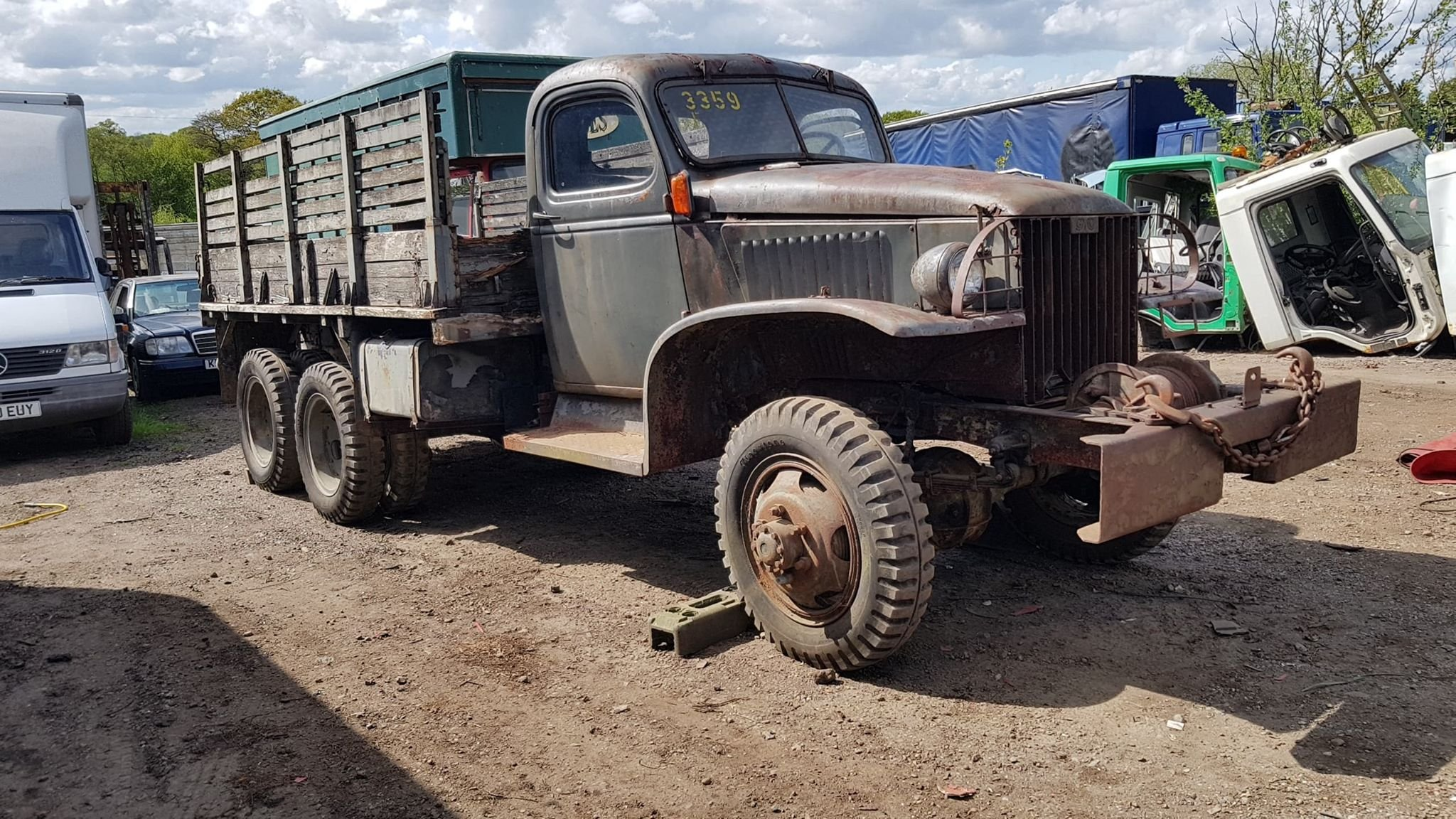 GMC CCKW 1944 hardcab winch truck  For Sale (picture 1 of 3)