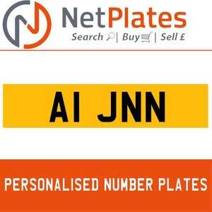A1 JNN PERSONALISED PRIVATE CHERISHED DVLA NUMBER PLATE