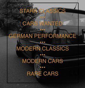 2000 CARS WANTED MODERN CLASSICS BMW SPORTS / GOLF GTI / RARE CAR For Sale