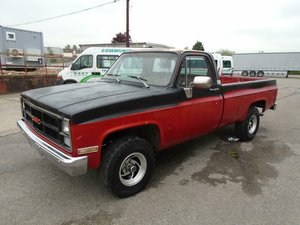 GMC K1500 HIGH SIERRA 4X4 V8 LWB PICKUP(1984)RED RUSTFREE! SOLD