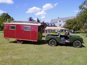 Eccles Vintage touring caravan manufactured 1920