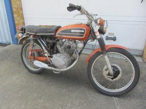 HONDA CB 125 RESTORATION PROJECT MOTORCYCLE SOLD