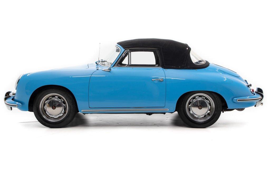 1964 Porsche 356C Cabriolet = Restored Blue(~)Black $125k For Sale (picture 2 of 6)