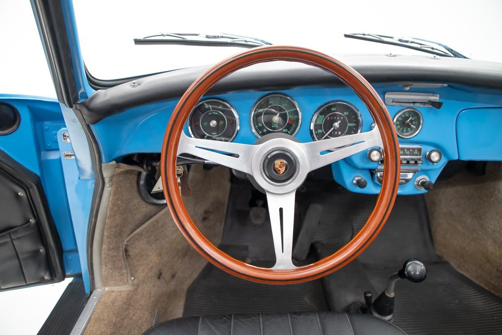 1964 Porsche 356C Cabriolet = Restored Blue(~)Black $125k For Sale (picture 4 of 6)