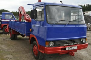 1982 MAGIRUS DEUTZ 90 M 75 TRUCK WITH HIAB PRIVATE NUMBER PLATE SOLD
