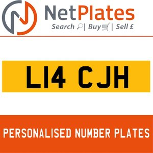 L14 CJH PERSONALISED PRIVATE CHERISHED DVLA NUMBER PLATE For Sale