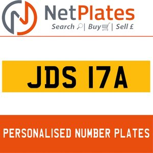 JDS 17A PERSONALISED PRIVATE CHERISHED DVLA NUMBER PLATE For Sale