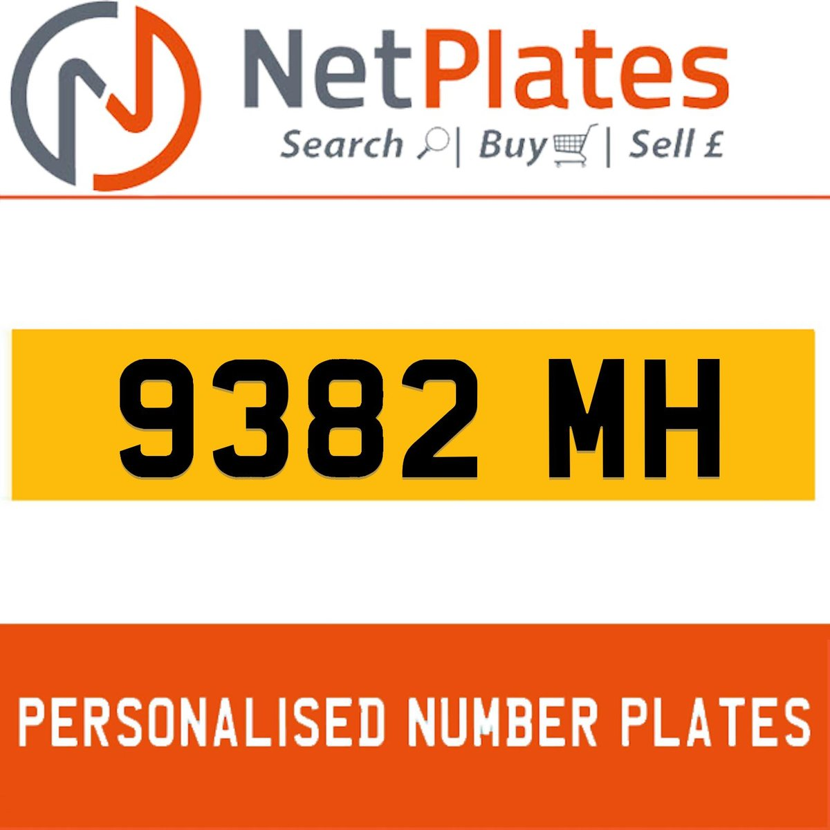 9382 MH PERSONALISED PRIVATE CHERISHED DVLA NUMBER PLATE For Sale (picture 1 of 5)