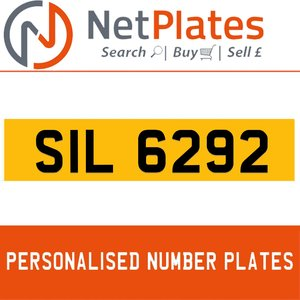 SIL 6292 PERSONALISED PRIVATE CHERISHED DVLA NUMBER PLATE For Sale