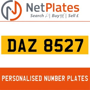 DAZ 8527 PERSONALISED PRIVATE CHERISHED DVLA NUMBER PLATE For Sale