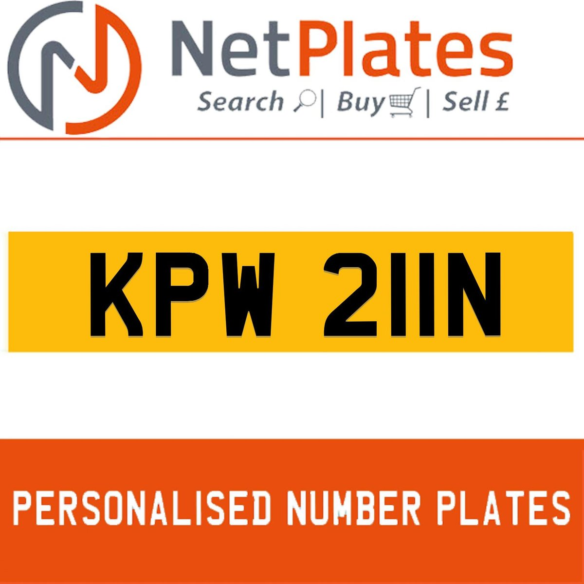 KPW 22N PERSONALISED PRIVATE CHERISHED DVLA NUMBER PLATE For Sale (picture 1 of 5)