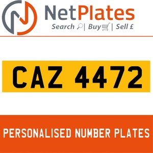 CAZ 4472 PERSONALISED PRIVATE CHERISHED DVLA NUMBER PLATE For Sale