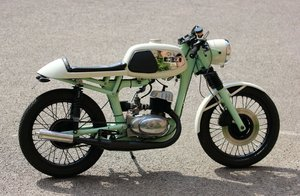 1985 MZ TS125 cafe racer