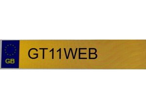 GT11WEB NUMBER PLATE ON RENTENTION AVAILABLE  For Sale