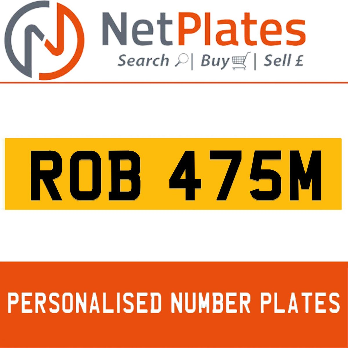 ROB 475M PERSONALISED PRIVATE CHERISHED DVLA NUMBER PLATE For Sale (picture 1 of 5)