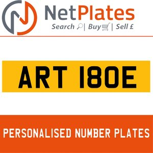 ART 180E PERSONALISED PRIVATE CHERISHED DVLA NUMBER PLATE For Sale