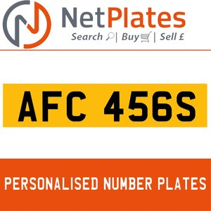 AFC 456S PERSONALISED PRIVATE CHERISHED DVLA NUMBER PLATE For Sale