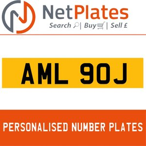 AML 90J PERSONALISED PRIVATE CHERISHED DVLA NUMBER PLATE For Sale