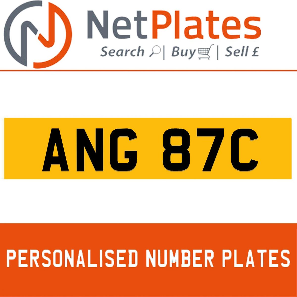 ANG 87C PERSONALISED PRIVATE CHERISHED DVLA NUMBER PLATE For Sale (picture 1 of 5)