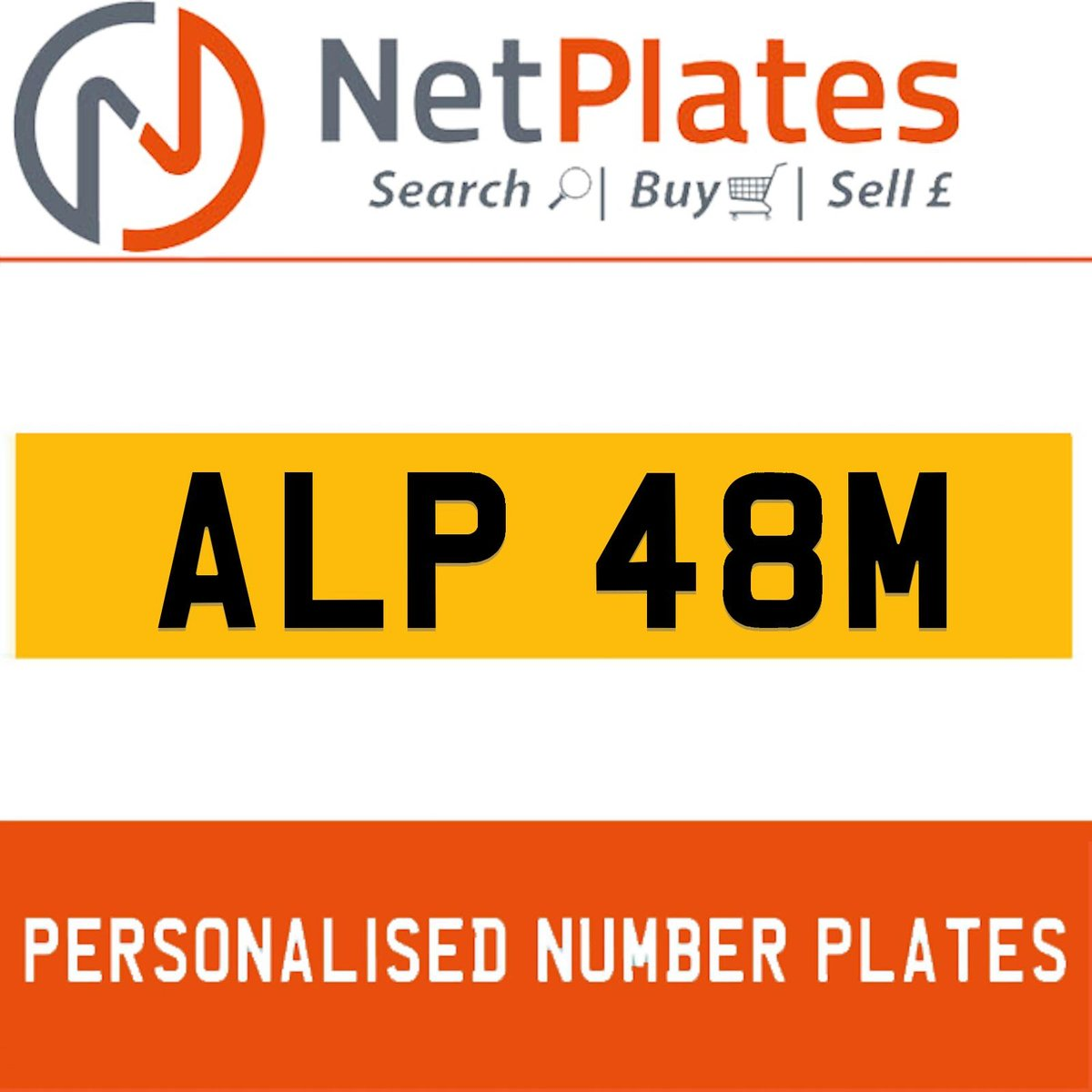 ALP 48M PERSONALISED PRIVATE CHERISHED DVLA NUMBER PLATE For Sale (picture 1 of 5)