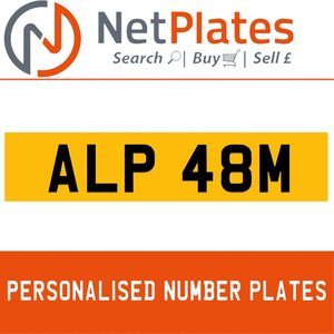 ALP 48M PERSONALISED PRIVATE CHERISHED DVLA NUMBER PLATE