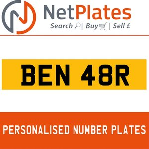 BEN 48R PERSONALISED PRIVATE CHERISHED DVLA NUMBER PLATE For Sale
