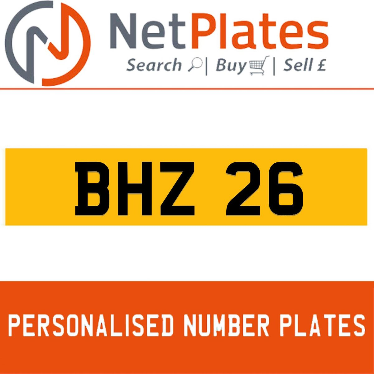 BHZ 26 PERSONALISED PRIVATE CHERISHED DVLA NUMBER PLATE For Sale (picture 1 of 5)