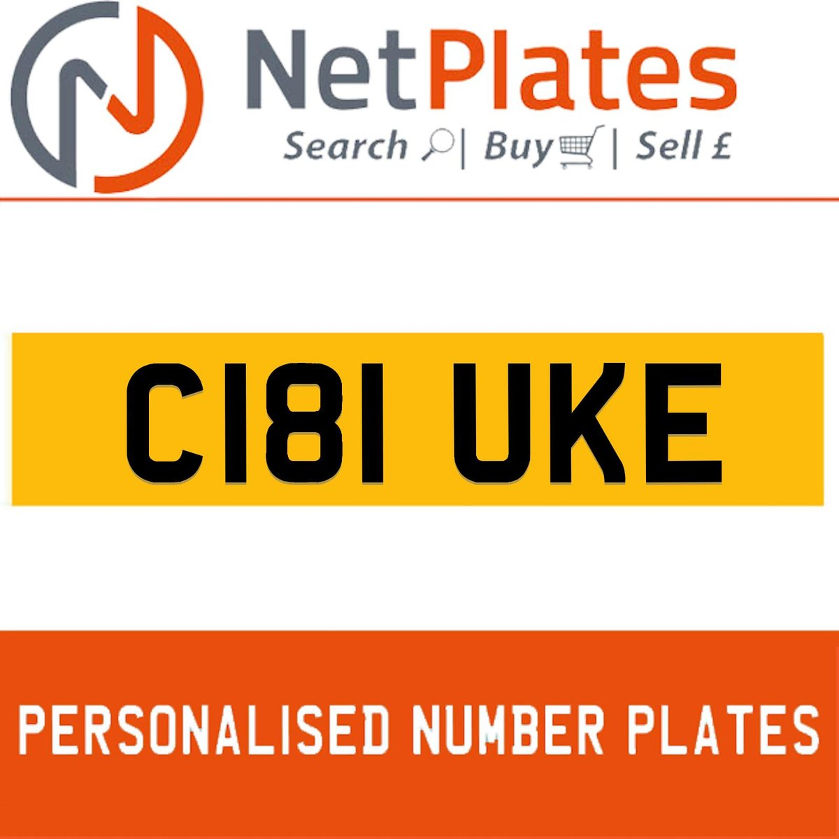 C181 UKE PERSONALISED PRIVATE CHERISHED DVLA NUMBER PLATE For Sale (picture 1 of 5)